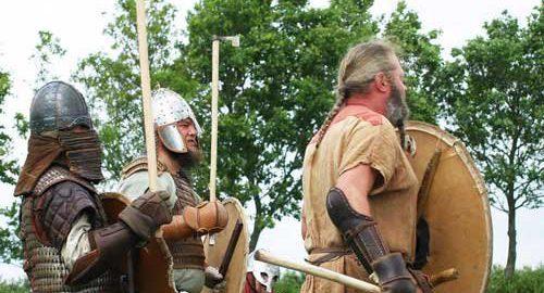 Mittelaltermarktkropp die Krieger